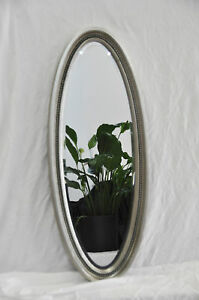 Ovalspiegel wandspiegel oval spiegel silber 130 x 50 cm ebay - Spiegel oval silber ...