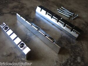 LAP STEEL GUITAR BRIDGE, TAILPIECE AND NUT KIT CHROME BRAND NEW