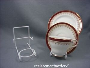 White Finish Cup Saucer Amp Plate Trio Display Stands X 6