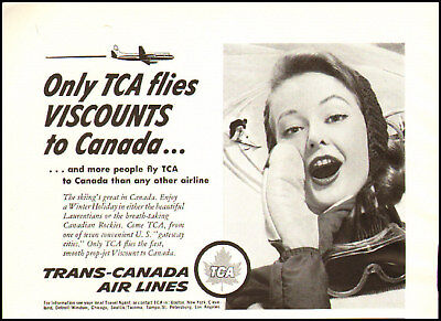 1960S Vintage Ad For Trans Canada Air Lines 370