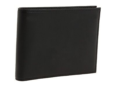 NEW BOSCA MEN'S NAPPA LEATHER EXECUTIVE BIFOLD CREDIT CARD ID WALLET BLACK