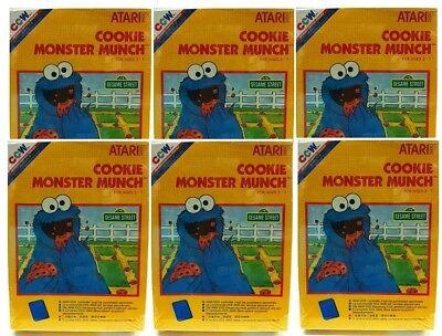 6 Lot Atari 2600 Game Cookie Monster Munch Pal