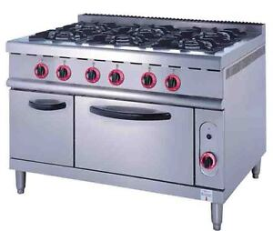COMMERCIAL 6 BURNER COOKER WITH OVEN