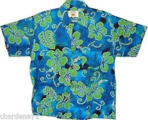 NEW MENS HAWAIIAN SHIRT HIBISCUS 3 COLOURS SML - 3XL
