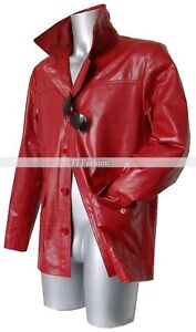 Fight Club Tyler Durden New Mens Red Glazed Real Cow Hide Leather Fashion J