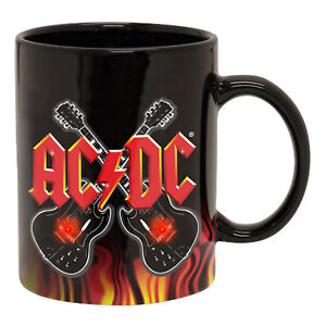 AC/DC AUSSIE BAND GUITAR FLASHING LIGHTS COFFEE MUG GREAT GIFT ACDC