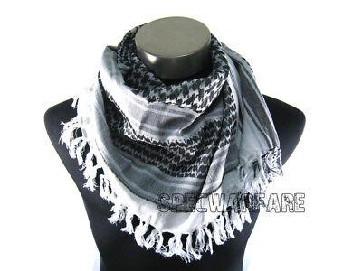 Devgru Shemagh Arab Scrim Scarf Black & White Bd2553