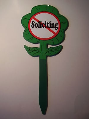 No Soliciting-yard Sign-garden Sign-lawn Sign-no Sales