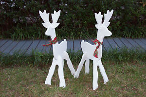 White Plywood Reindeer