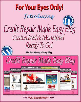 Credit Repair Blog Self Updating Website   Clickbank Amazon Adsense Pages   More