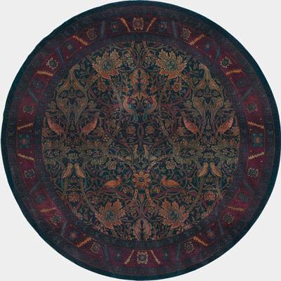 8' Round William Morris Arts & Crafts Mission Style Area Rug
