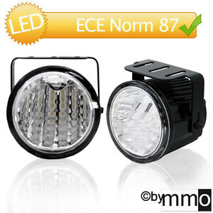 AuCo-LED-Tagfahrlicht-Tagfahrleuchten-70mm-RUND-Dimming