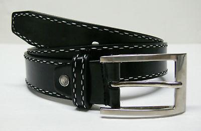 Men's Designer Jeans Leather Belt Black/brown E12