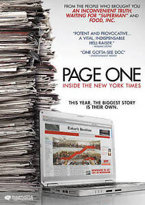 Page One: Inside The New York Times (DVD, 2011) - Brand New!!!