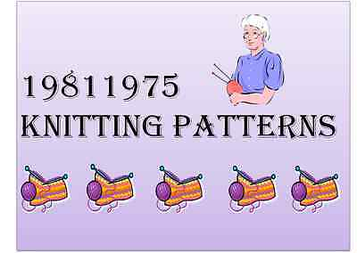 19811975 KNITTING PATTERNS