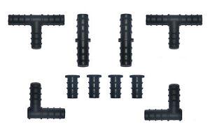 SOAKER HOSE/GARDEN HOSE 10 MIXED 16mm CONNECTORS