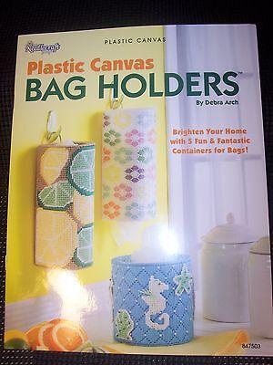 Bag Holders Plastic Canvas Pattern Book (730)