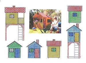 bauplan f r spielhaus turmhaus baumhaus stelzenhaus ebay. Black Bedroom Furniture Sets. Home Design Ideas