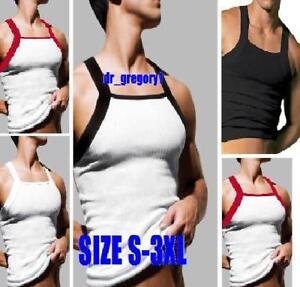 1-Mens-Square-Cut-2xist-G-Unit-Style-GYM-Tank-Top-S-3X