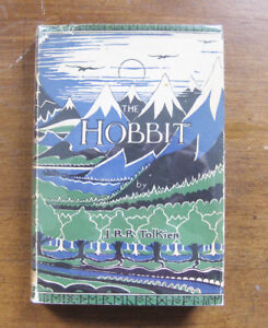 THE-HOBBIT-by-J-R-R-Tolkien-1957-1st-9th-Allen-UK-HCDJ-VG-Lord-of-the-Rings