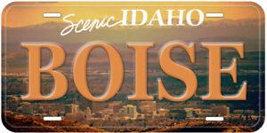 Boise-Idaho-Aluminum-Auto-Novelty-Car-License-Plate