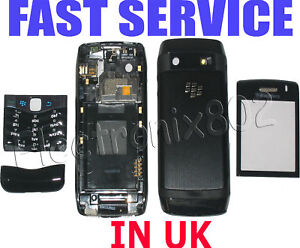 Blackberry 9105 Pearl 3G Housing Keypad Battery Cover Case Fascia BLACK New UK