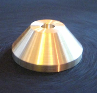 "BRASS 7"" 45 RECORD PLAYER TURNTABLE ADAPTER FOR IMPORT SINGLES SOUL FUNK REGGAE"