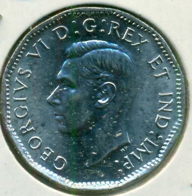 1945 CANADA FIVE CENTS ABSOLUTE GEM BU FREE DOMESTIC SHIPPING GREAT PRICE!