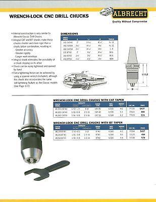 Albrecht Wrench-lock Cnc Cat40 12 Drill Chuck