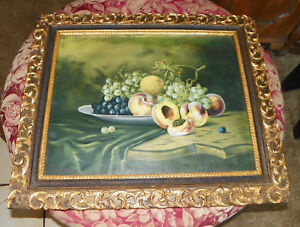Peaches-and-Grapes-Fruit-Print-Picture-Frame