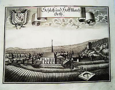 Schloß Ort Innkreis Österreich Wening  Kupferstich 1721