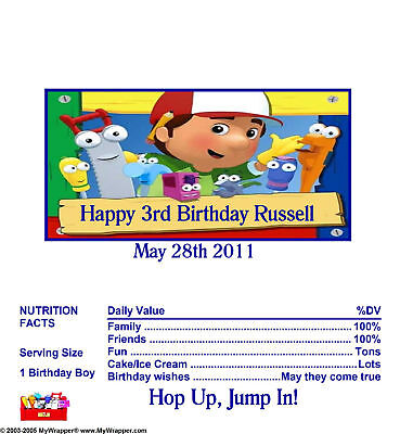 Candy Wrappers/party Favors Handy Manny 1