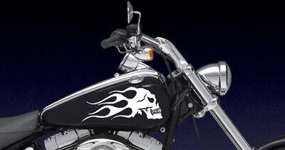 Universal Flaming Skull Gas Tank Decals Harley