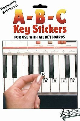 ABC PIANO KEYBOARD NOTE NAME STICKERS - NAME THE KEYS! #1009 on Rummage