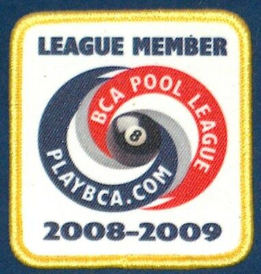 2008 09 Bca 8 Ball Pool League Player Member Patch