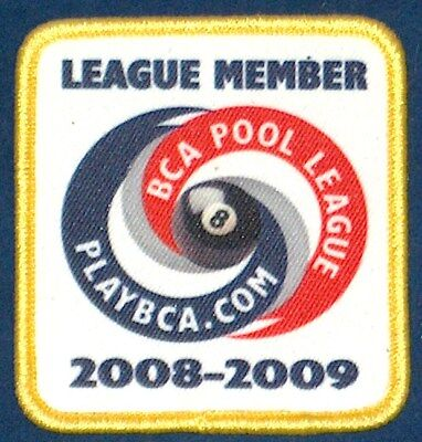 2008 09 Bca 8 Ball Pool League Player Member Patch