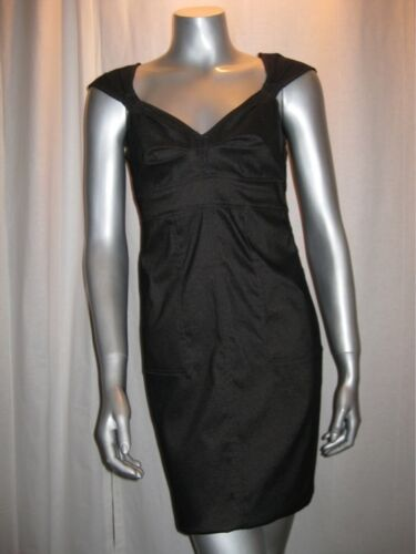 $128 MSSP MAX STUDIO Black V Neck Mini Dress sz M NWT