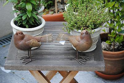 Vogel Vögel 2 Er Set Spatz Drossel Garten Deko Top Dekoration Lebensgroße Vögel