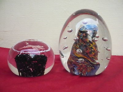 2 Beautiful Paperweight__MASSIVE GLASS BALLS __ 1, 7kg