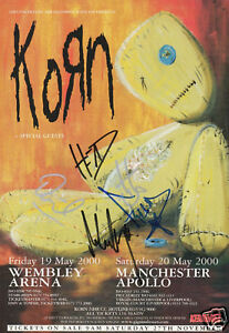 Korn - UK Dates - Issues Signed Promo Poster