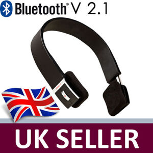 Bluetooth 2.1 Wireless Stereo Headphones BTH002 NEW UK iPhone 4/4s iPad2 HTC LG