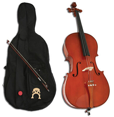 NEW Crescent  HANDMADE CELLO+CASE+BOW+ROSIN+BRIDGE on Rummage