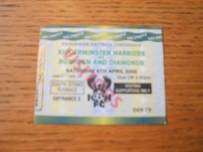 08/04/2000 Ticket: Kidderminster Harriers v Rushden And