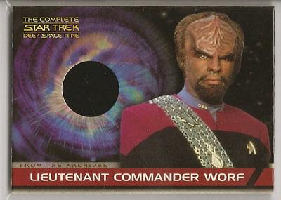 Complete Ds9 Costume Card Cc2 Lt Com Worf Michael Dorn