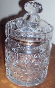 SHANNON-HEAVY-24-LEAD-CRYSTAL-CLEAR-BUSCUIT-JAR-7-1-2