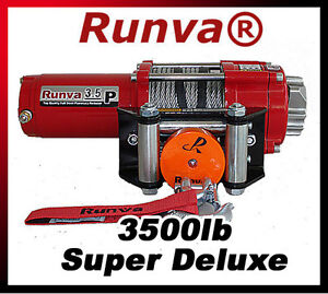 3500lb-New-Runva-ATV-UTV-12V-Towing-Recovery-Electric-Winch-Super-Deluxe-Package