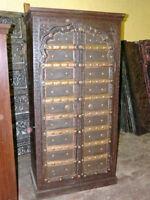 Antique Armoires Furniture India Teak Wood Cabinets Ebay