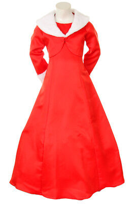 Girl Red Dress Size 10 12 National Pageant Christmas Holiday Formal