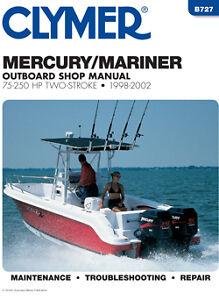 Clymer mercury mariner outboard repair shop manual 75 for Outboard motor repair shop