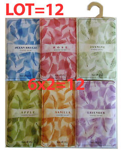Lot-of-12-Fragrant-Sachet-Packet-bag-with-Hook-NEW